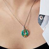 Комплект серебряных украшений  с эмалью ( Серьги , кольцо, подвеска ), фото 6
