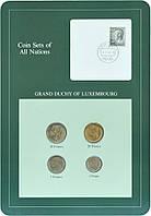 Люксембург Набор монет 1980-1983 UNC 1, 5, 10, 20 франков и 1 марка Буклет
