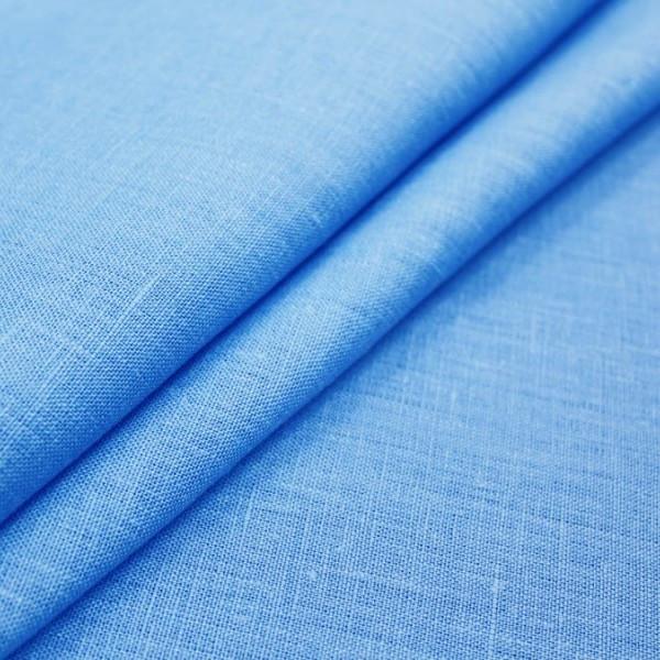 Ткань Лен, 55% Лен и 45% Вискоза, Голубой
