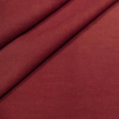 Ткань Лен, 55% Лен и 45% Вискоза, Бордовый, фото 2