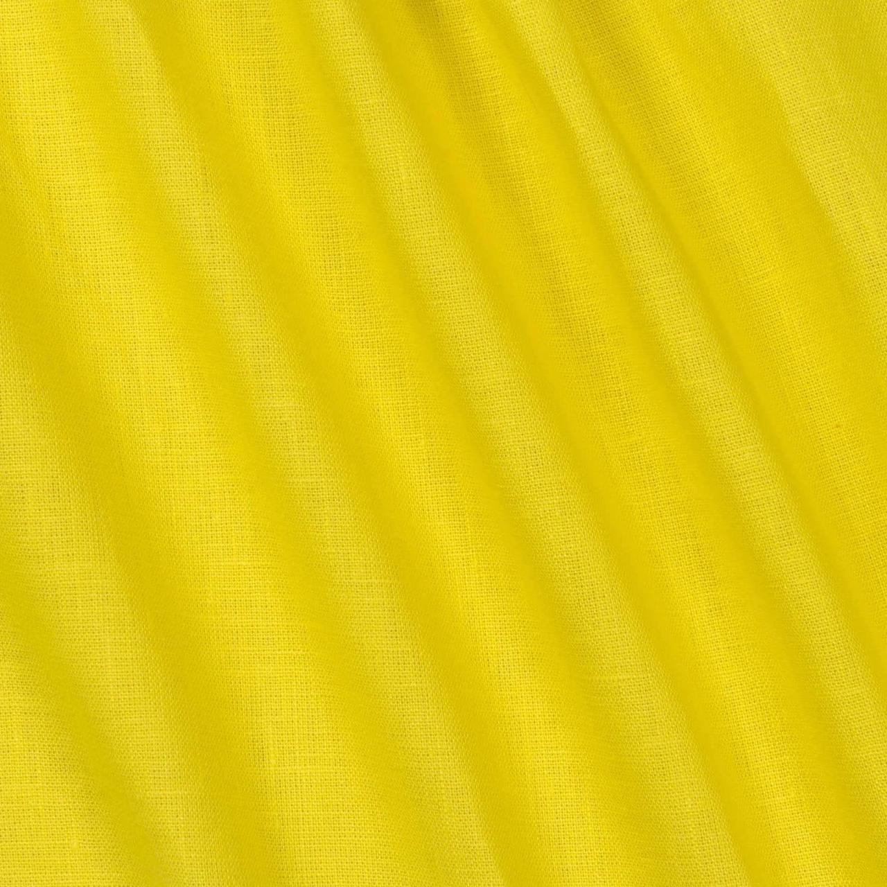 Ткань Лен, 55% Лен и 45% Вискоза, Желтый