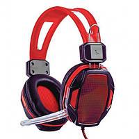 Игровые проводные наушники с микрофоном SY833MV Pro Soyto HIFI Красные