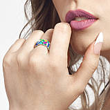 Комплект серебряных украшений с эмалью ( Серьги , кольцо, подвеска ), фото 8