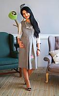"""Сарафан для беременных с вышивкой """"Мальвы""""  (размеры 44,48,50)"""