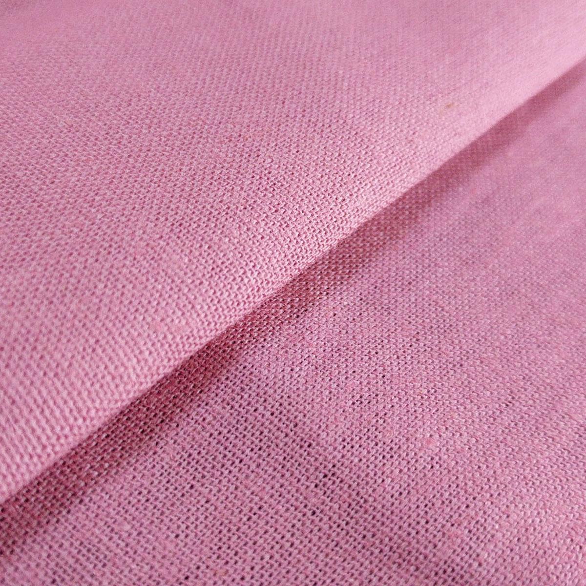 Ткань Лен, 55% Лен и 45% Вискоза, Розовый