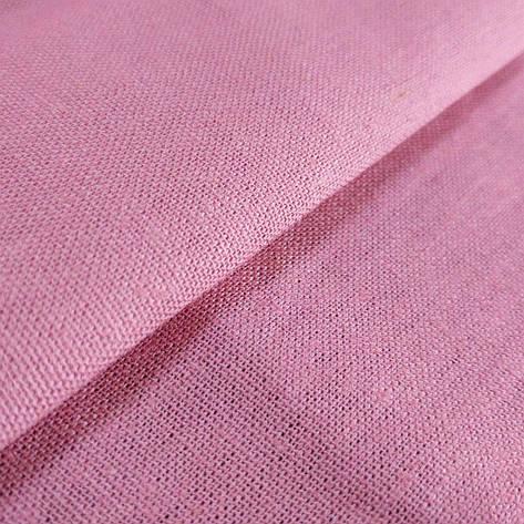 Ткань Лен, 55% Лен и 45% Вискоза, Розовый, фото 2