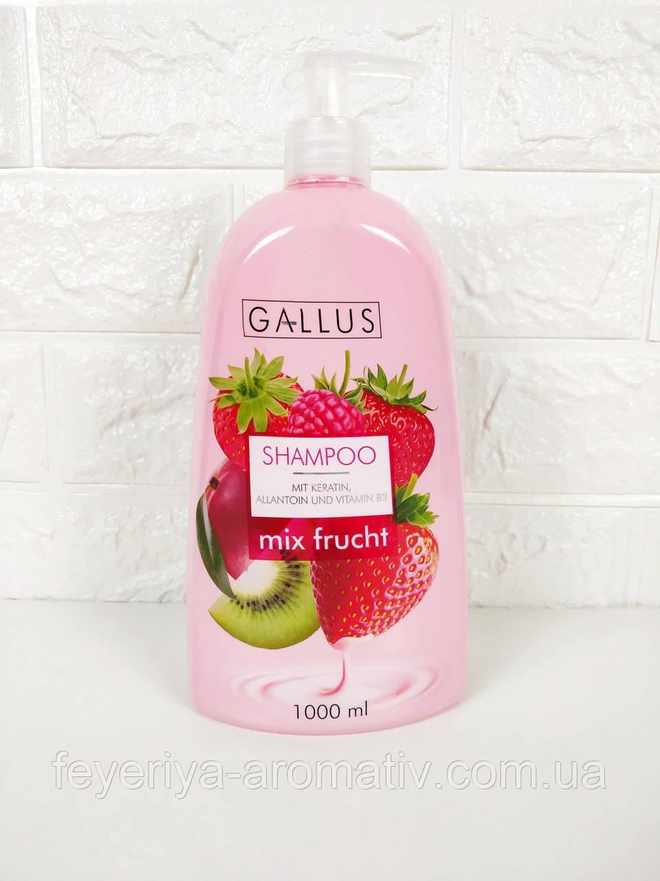 Шампунь для волос Gallus Shampoo Mix Frucht 1л.