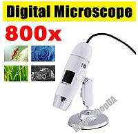 Микроскоп электронный цифровой USB 800Х для телефона смартфона ноутбука ПК пайки. Цифровий USB мікроскоп CV07, фото 1
