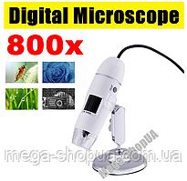 Микроскоп электронный цифровой USB 800Х для телефона смартфона ноутбука ПК пайки. Цифровий USB мікроскоп CV07