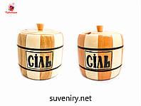 Деревянная баночка для соли хорошего качества