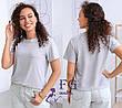 Красная однотонная летняя женская базовая футболка с короткими рукавами, фото 2