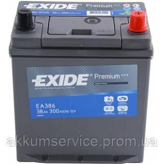 Аккумулятор автомобильный Exide Premium Asia 38AH R+ 300А (EA386)