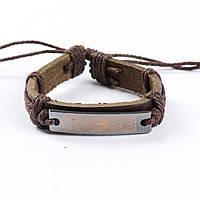 """Кожаный браслет для мужчин и женщин """"Молитва Brown, фото 1"""
