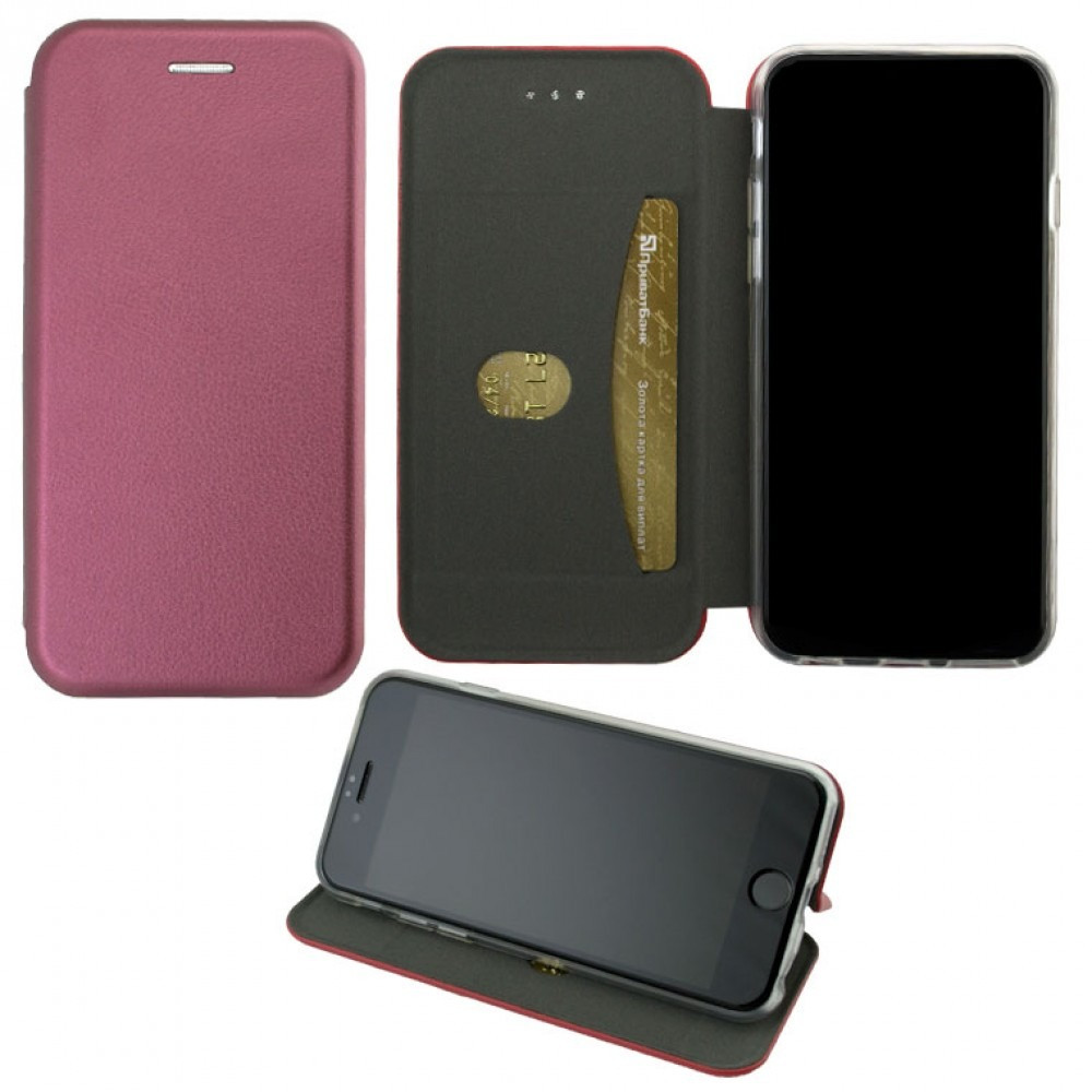 Чехол-книжка Elite Case Meizu 16 Plus Бордовый