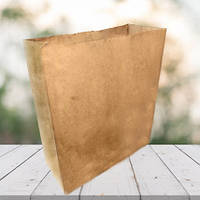 Пакет из бурой крафт бумаги 400х350х140 (500 шт в упаковке)