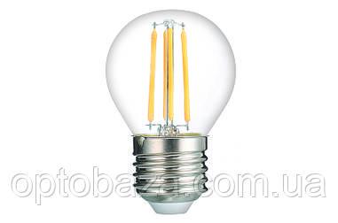 LED Лампа Vestum филамент G45 4W 4100K 220V E27