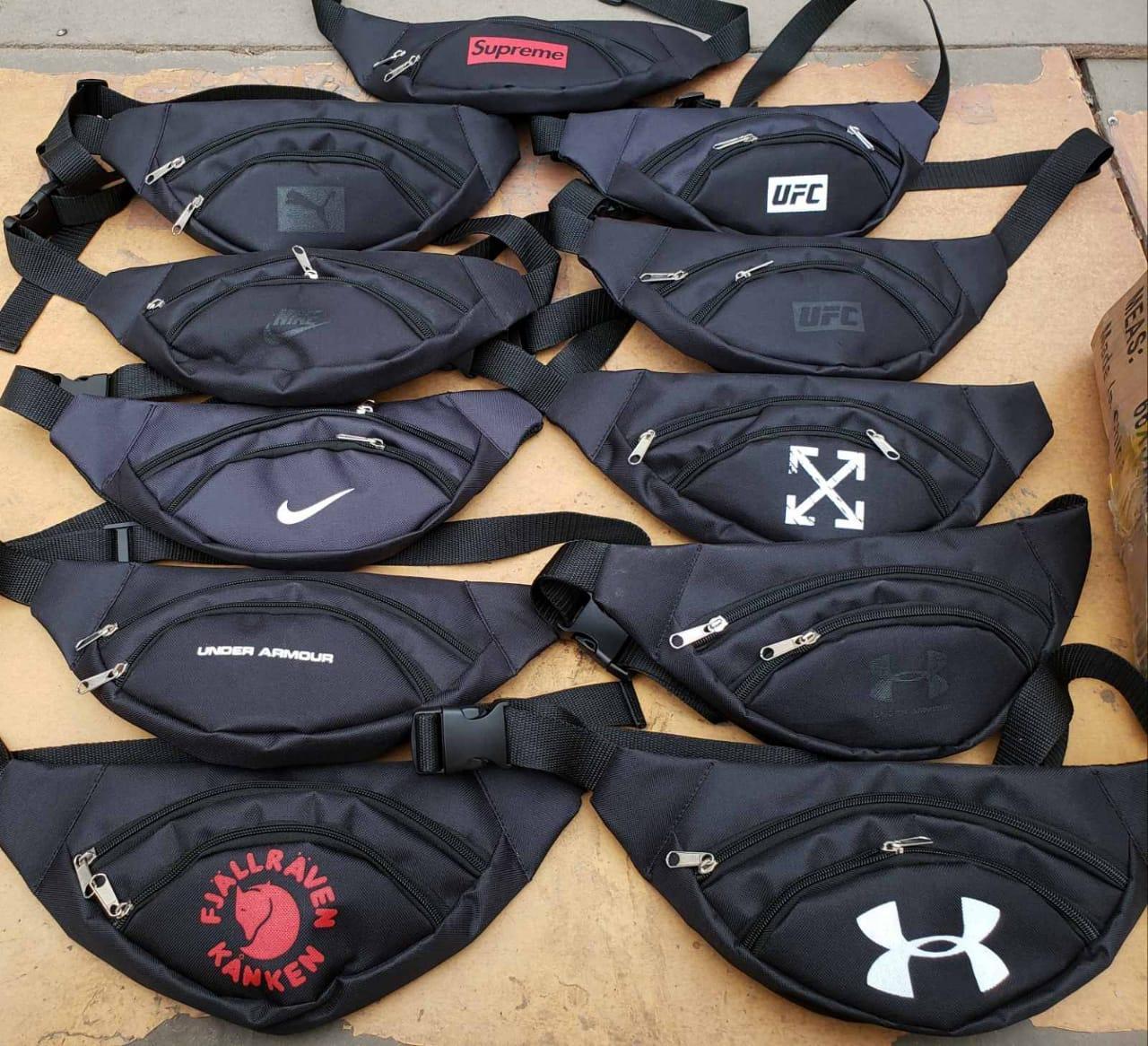 Поясная сумка бананка Nike, Puma, сумка на пояс, размер 30х12х5