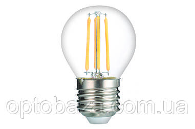 LED Лампа Vestum филамент G45 4W 3000K 220V E27