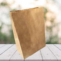 Пакеты из бурой крафт бумаги 350х250х140 (1000 шт в упаковке)
