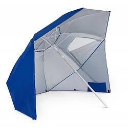 Зонт пляжный складной диаметром 210 см di Volio Sora синего цвета садовый зонт