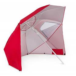 Зонт пляжный складной 210 см di Volio Sora красного цвета садовый зонтик