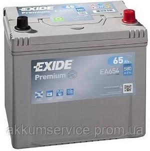 Аккумулятор автомобильный Exide Premium Asia 65AH R+ 580А (EA654)
