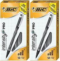 Маркери BIC Intensity Pro Marker Pen, Fine Point (0.5mm), Black, 12-Count  Каперярні ручки FPIN11-BLK