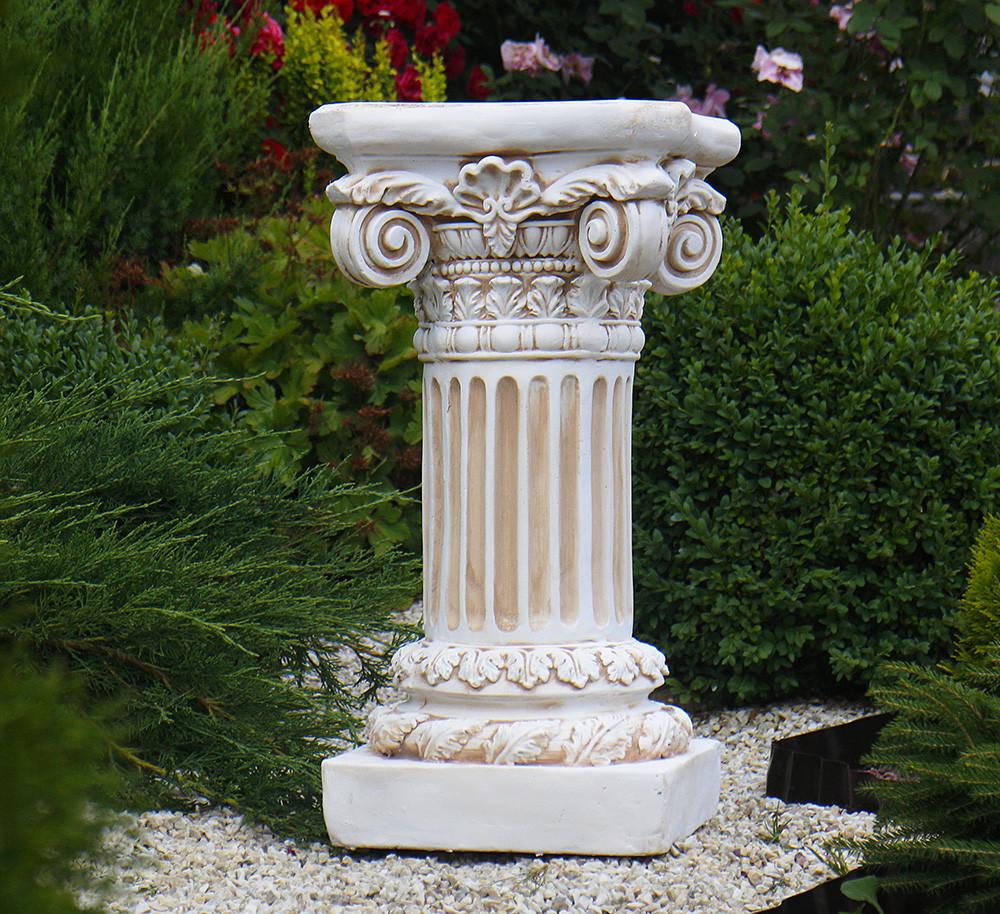 Садовая колонна круглая малая 66х35х35 см