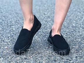 Женские - подрстковые кеды Vans Черные реплика, фото 3