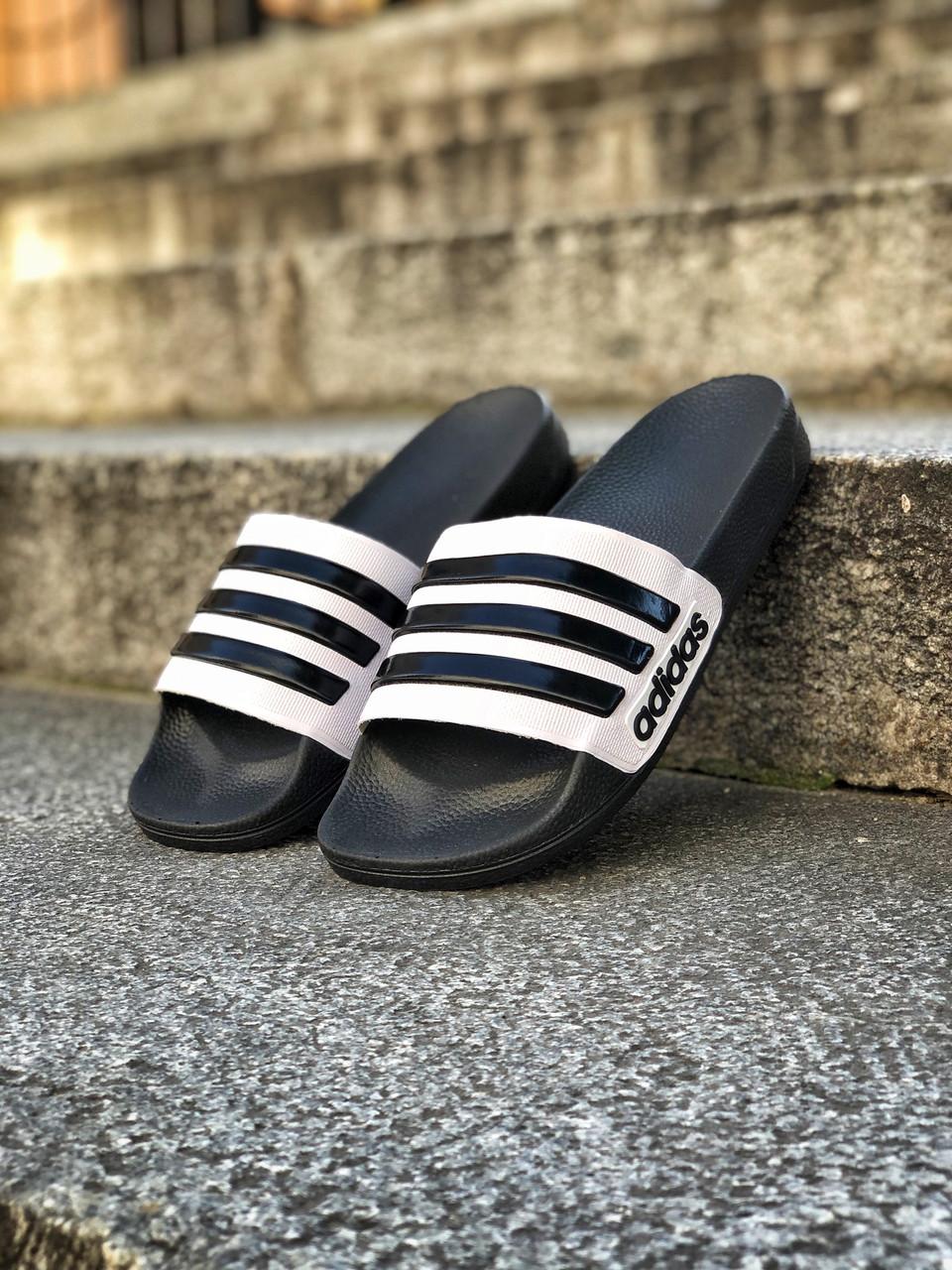 Шлёпанцы (Тапки) Adidas Black-White