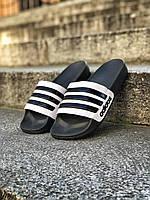 Шлёпанцы (Тапки) Adidas Black-White, фото 1