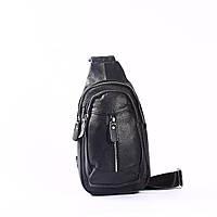 "Мужская кожаная сумка ""Галилео Black"", фото 1"