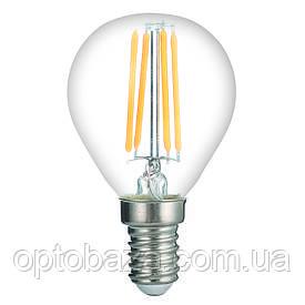LED Лампа Vestum филамент G45 4W 4100K 220V E14