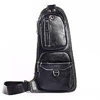 """Мужская сумка на грудь, мини-рюкзак """"Jeep 2 Black"""", фото 1"""