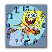 Губка Боб - часы настенные 30*30 см