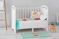 Кроватка Детская Гамми (К2) Белая, Бук И МДФ