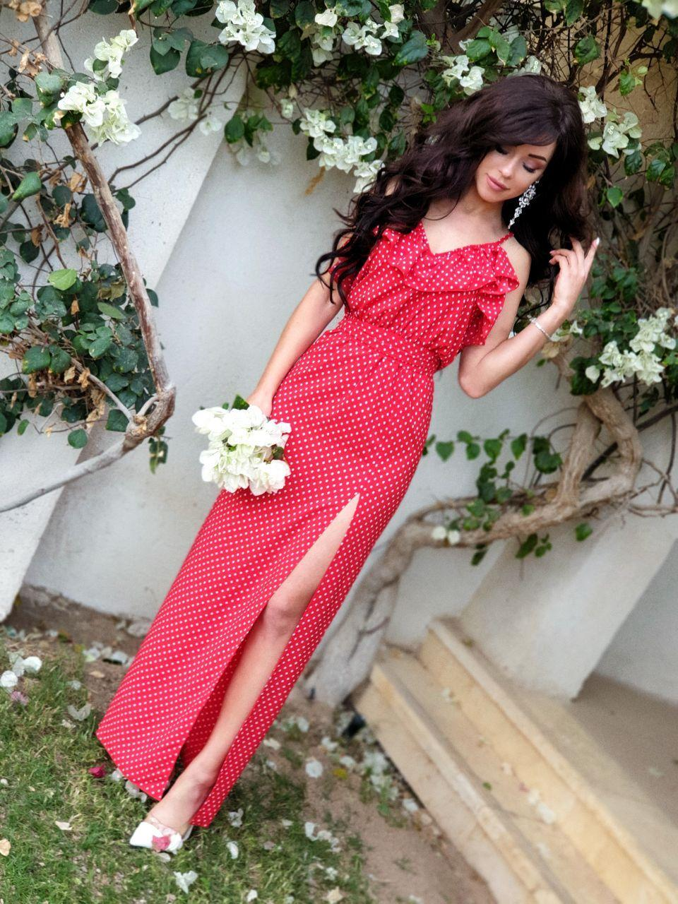 Платье летнее в пол с воланами MR2006