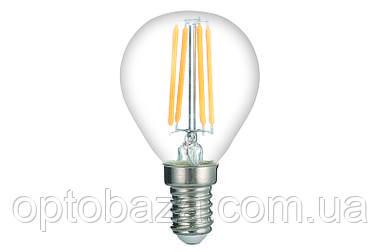 LED Лампа Vestum филамент G45 5W 4100K 220V E14