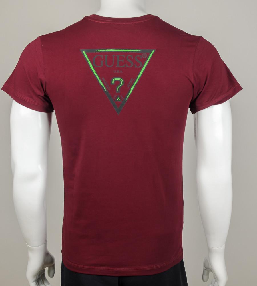 Футболка мужская GUESS (0910м), Бордовый