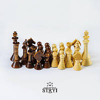 Набор эксклюзивных шахматных фигур из дерева ручной работы STRYI