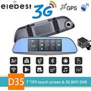 "Видеорегистратор зеркало с камерой заднего вида D35 LCD 7"" GPS WI-FI ANDROID"