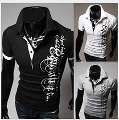 Черная футболка с графическим принтом M  2 цвета  код 54