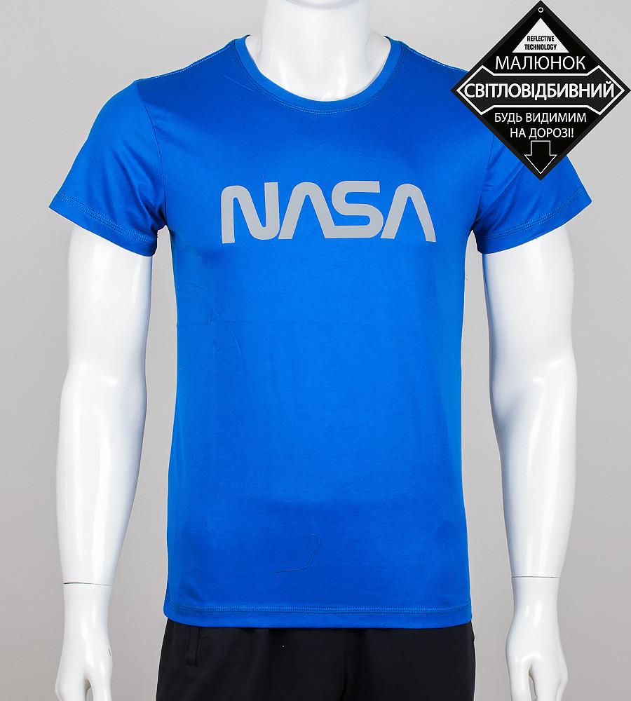 Футболка чоловіча світловідбиваюча NASA (0915м), Електрик