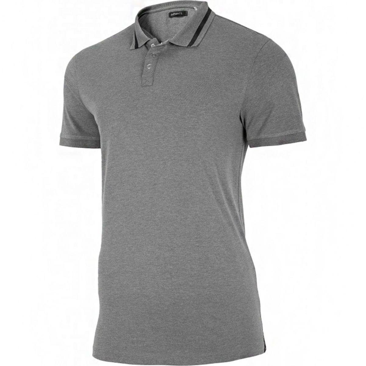 Мужская серая однотонная футболка с воротником Outhorn HOZ19 TSM618 M 24M