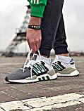 Мужские кроссовки Adidas EQT Support в стиле Адидас ЕКТ СЕРЫЕ (Реплика ААА+), фото 2
