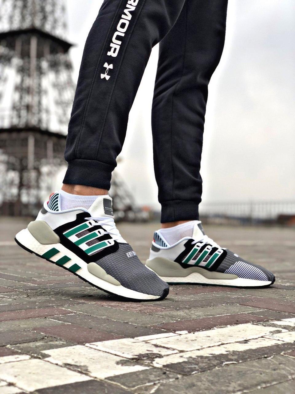 Мужские кроссовки Adidas EQT Support в стиле Адидас ЕКТ СЕРЫЕ (Реплика ААА+)