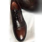 Туфли мужские Alexander Hotto Италия оригинал, натуральная кожа, ручная работа, размер 41