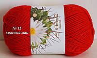 Нитки пряжа для вязания акриловая Ареола № 12  -  КРАСНЫЙ МАК