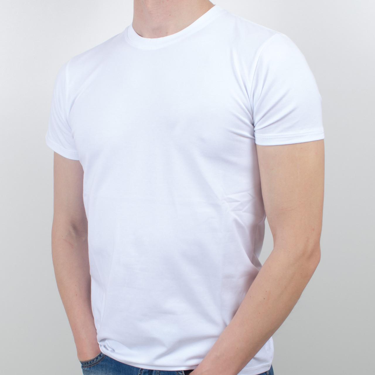 Футболка мужская однотонная  (0Г01), Белый