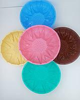 Форма силиконовая круглая для выпечки с узором 23,5*6